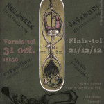Flyer d'exposition d'illustrations sur Halloween