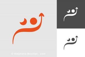 Logo de visage malheureux et heureux | Sophrologie Psychologie
