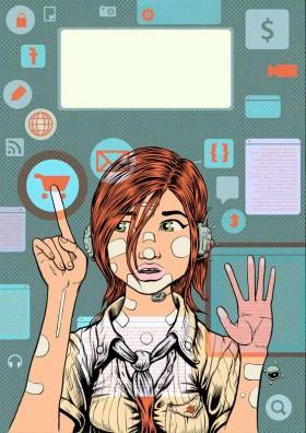 Internet marketing girl