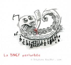 Illustration Perturbation SNCF
